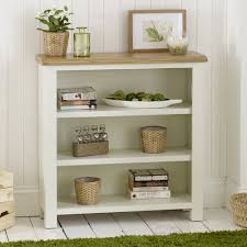 Narrow Bookcase Oak by Cream Painted Small Bookcase