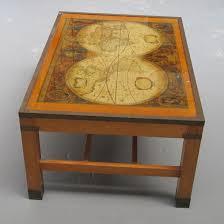 Map Cabinet Antique World Map Coffee Table Les Trois Garçons