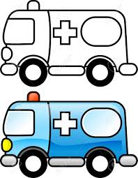 ambulance printable coloring page for children or you can use