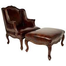 Best Leather Chair And Ottoman Chair Leather Reading Chair With Ottoman Tribecca Brown Leather