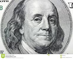 benjamin franklin on 100 dollar bill stock photo image of