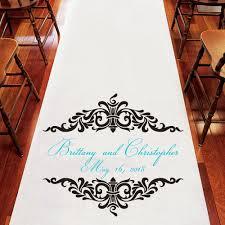 personalized wedding aisle runner ornate frame personalized wedding aisle runner aisle runners