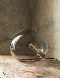 Globe Table Lamp Ostuni Grey Glass Globe Table Lamp At Rose U0026 Grey