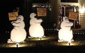 Metal Christmas Lawn Decorations by Calvin And Hobbes Christmas Lawn Decorations