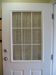 spray painted window trim on exterior door spray painting