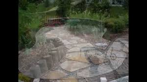 Rock Patio Design River Rock Patio Design For Simple Crushed Yard