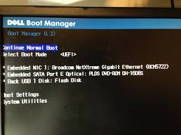 trying to boot from a usb on a dell poweredge t110 ii