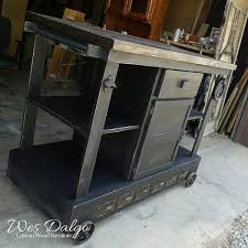 distressed black kitchen island distressed black industrial age kitchen island cart wes dalgo