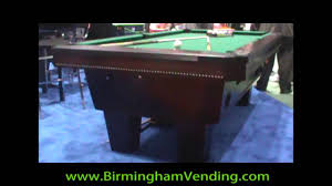 Valley Pool Table by Valley Top Cat Pool Table By Birmingham Vending Youtube