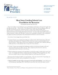 Makeup Schools In Dc Most States Funding Schools Less Than Before The Recession