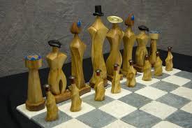 decorating amazing wood design for unique chess sets