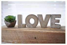 3 concrete letters love sign full word free standing zoom