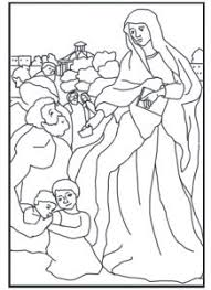 free coloring page saint frances of rome schola rosa co op