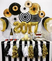 black and gold party decorations new year s decorations anniversary engagement birthday