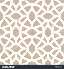 arabesque trellis pattern seamless background tile stock vector