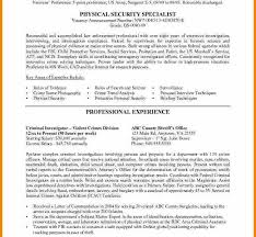 Physical Security Specialist Resume Valuable Resume Usa 11 10 Job Examples Resume Example