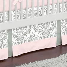 pink and gray traditions crib bedding baby bedding