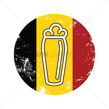 beer can cartoon beer glass on belgium flag vector image 1579373 stockunlimited