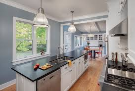 blue kitchen tile backsplash built in stoves oven farmhouse country kitchens white subway tile