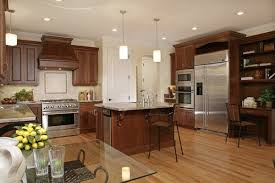 what color wood floor looks with cherry cabinets pin on kitchen