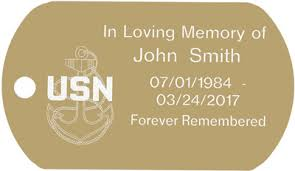 in loving memory dog tags custom navy memorial dog tag t098
