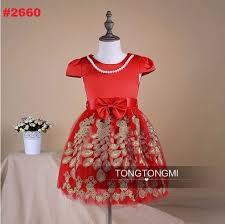 dress anak ready stock baby kid collection dress dress anak merah