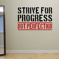 strive for progress not perfection wall fitness decal quote gym strive for progress not perfection wall fitness decal quote gym kettlebell crossfit yoga boxing