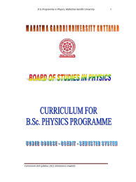 m g university cbcss b sc physics syllabus 2011admission onwards