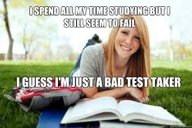College Test Meme - dumb studying college girl memes quickmeme