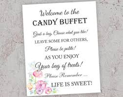 Wedding Buffet Signs by Candy Table Sign Etsy