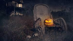 lightning pumpkin and a crow scary halloween night