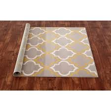 Yellow Area Rug 5x7 by Modern Moroccan Trellis Grey Yellow Area Rug 5 U0027x7 U0027 Free