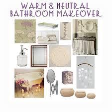 warm u0026 neutral bathroom makeover moodboard u2013 the decor guru