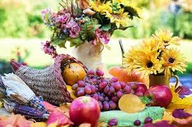 how did the cornucopia become associated with thanksgiving