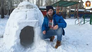 How To Build An Igloo In Your Backyard - how to make an igloo house youtube
