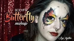 Butterfly Halloween Makeup by Butterfly Makeup Face Paint Bodyfx Youtube