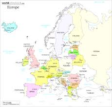 Map Of France And Surrounding Countries by Interactive Map Of Europe Europe With Countries And Seas