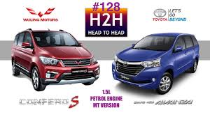 wuling cars h2h 128 wuling confero s vs toyota grand new avanza youtube