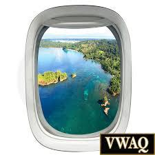 3d porthole airplane window decal aerial view airplane window