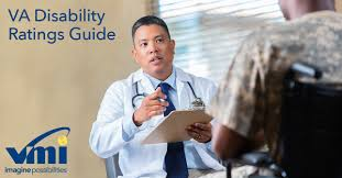 A doctor and a veteran discussing VA disability ratings Vantage Mobility International