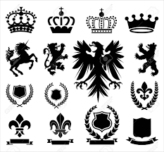 heraldry ornaments set of various heraldry ornaments including