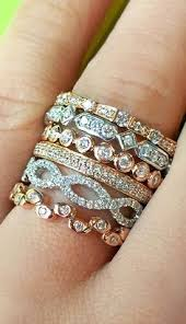 stackable diamond rings repin if you would tie the knot in one of these dazzling wedding