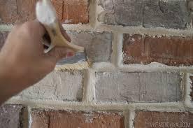 How To Lay Brick Fireplace by Grouting Brick Veneer U2022 Vintage Revivals