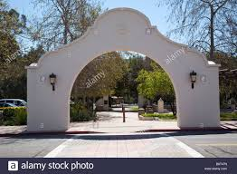a view of the 1917 stucco spanish colonial revival style archway