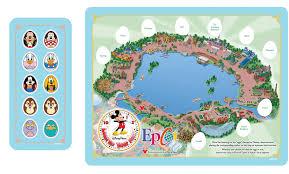 disney epcot map limited magic disney character egg hunt begins week