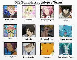 Zombie Team Meme - zombie apocalypse team meme anime style by geckogirl315 on