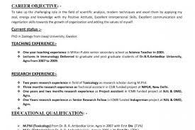 resume scientific field