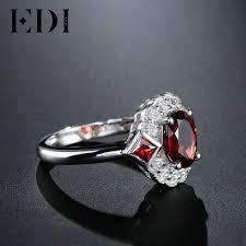 royal wedding ring edi genuine garnet gemstones rings 925 sterling silver palace