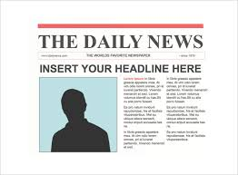 newspaper headline template newspaper front page template