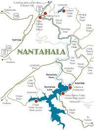 nantahala river map map of nantahala lake topton nc 28781 wayah road